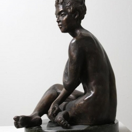 Merewyn Heath Artwork Lady Charm, 2010 Bronze Sculpture, Figurative