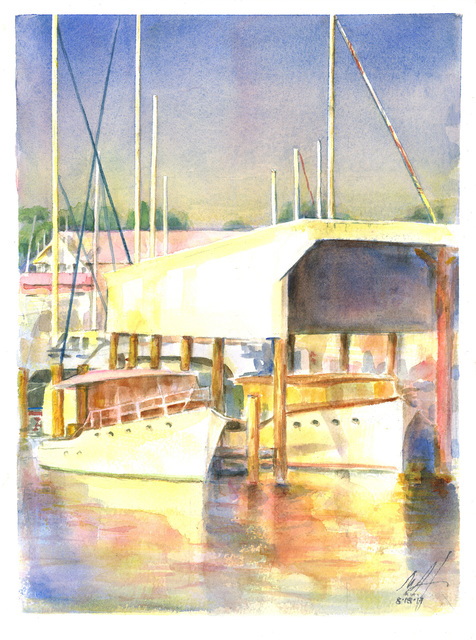Merrilyne Hendrickson  'Antique Boats Sarles Boat Shed', created in 2017, Original Painting Acrylic.