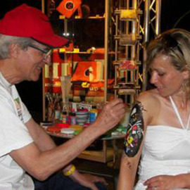 BODY ART PAINTING PERFORMANCE MONTREUX JAZZ FESTIVAL