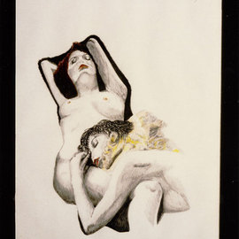 contemporary erotic drawing