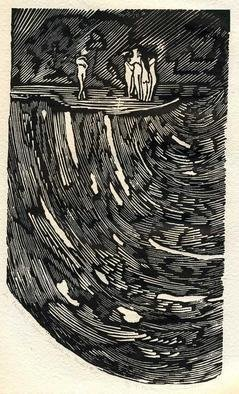 Youri Messen-jaschin: 'Paradis II', 1972 Woodcut, Undecided. Illustration for the book Alighieri Dante Divine Comedie. 1/ 15 Xylography(r) by 1972 Prolitteris Po. Box CH. - 8033 Zurich(c) by 1972 Youri Messen- Jaschin Switzerland...