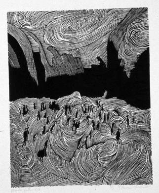 Youri Messen-jaschin: 'Planete Folle New York', 1972 Woodcut, Undecided. xylography 1/ 15(r) 1972 by Prolitteris Po. Box CH. - 8033 Zurich(c) 1972 by Youri Messen- Jaschin Switzerland...