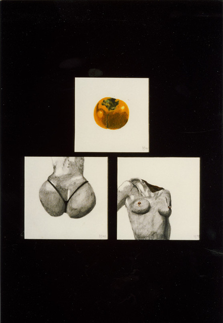 Youri Messen-Jaschin  'Sharon Fruit', created in 1990, Original Bas Relief.