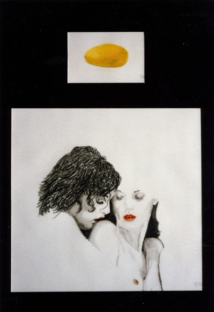 Youri Messen-Jaschin  'Yellow Passion Fruit', created in 1990, Original Bas Relief.