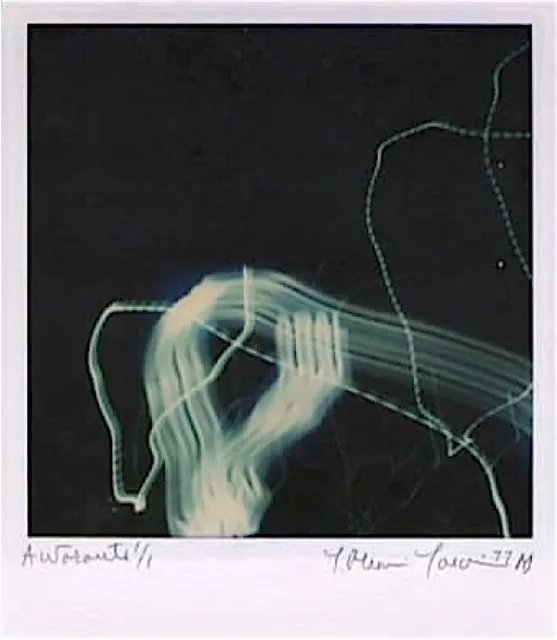 Youri Messen-jaschin: 'autoroute', 1977 Other Photography, Abstract. Polaroid | Highway | near Bern Switzerland A(r) Prolitteris ZA1/4rich, many exhibition Switzerland...