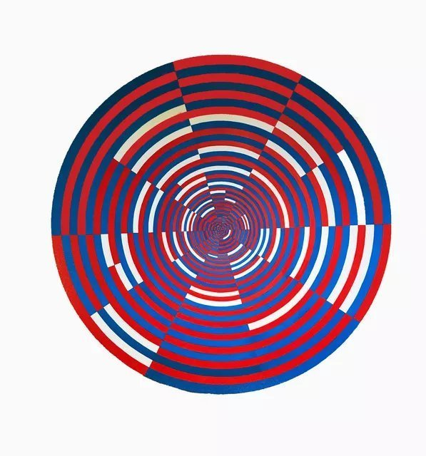 Youri Messen-jaschin: 'circular mention', 2019 Oil Painting, Optical. Op art Canvas LinenA(c) 2019 Youri Messen- JaschinA(r) 2019 Prolitteris A(c)Aa 8024 ZA1/4rich...