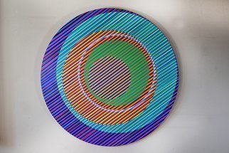 Youri Messen-jaschin: 'gaia', 2021 Oil Painting, Optical. Op art Linen CanvasTransport, insurance and packaging are in addition to the price. . .A(c) 2021 Youri Messen- JaschinA(r) 2021 Prolitteris ZA1/4rich...