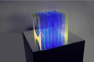 Youri Messen-jaschin: 'harmonia mundi', 2017 Other Sculpture, Optical. Artist Description: Op art sculpture Plexiglas, Glass, computer + LED(r) Prolitteris Zurich...