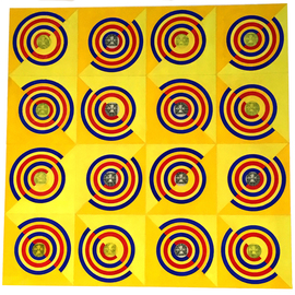 Youri Messen-jaschin: 'one III', 1996 Other Painting, Optical. Artist Description: Op art | gouache on paperA(c) 1996 Youri Messen- JaschinA(r) PtroLitteris Zurich...