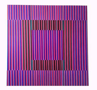 Youri Messen-jaschin: 'qualia', 2020 Oil Painting, Optical. Op art oil painting on Linen canvas  Packaging, insurance, transport not include in the price.  A(c) 2020 Youri Messen- JaschinA(r) Prolitteris ZA1/4rich...