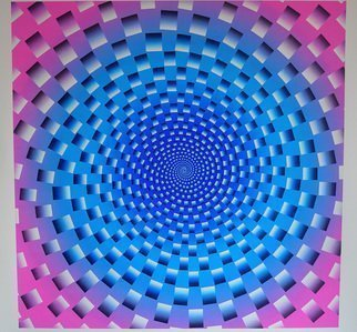 Youri Messen-jaschin: 'wormhole', 2018 Serigraph, Optical. Artist Description: Op art   15 print   10 colorsCotton paper handmadeA(c) Youri Messen- JaschinA(r) Prolitteris Zurich...
