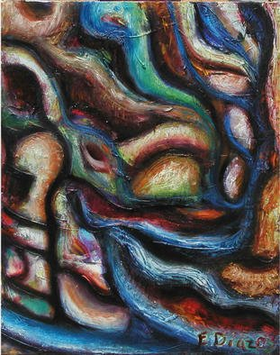 Eduardo Diaz: 'No title', 2003 Oil Painting, Abstract.