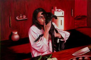 Eduardo Diaz: 'Sin frijoles', 2003 Oil Painting, Poverty.