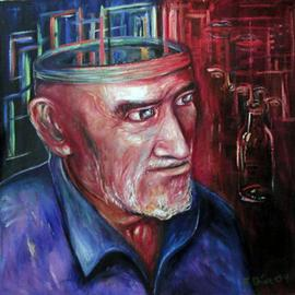 Eduardo Diaz Artwork Viejo, 2004 Oil Painting, Culture