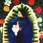 Zapatista virgin with child By Eduardo Diaz