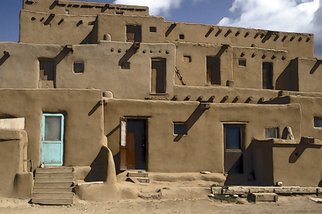 Marcia Geier: 'Taos Pueblo', 2008 Digital Art, Southwestern. Artist Description: this is a 35mm color slide scanned into a digital image and then lightly filtered using Photoshop...