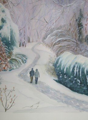 Artist: Michael Navascues - Title: After the Snow - Medium: Watercolor - Year: 2011