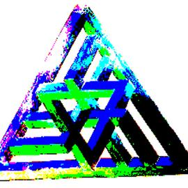 abstract fractle triangle