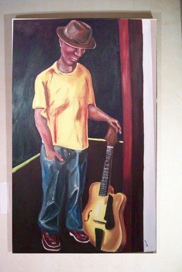 Michael Ashcraft: 'Solo', 2012 Oil Painting, Abstract Figurative.   solo guitarist  ...