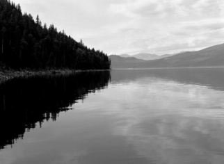 Michael Easton: 'Blondens Point, Arrow lakes', 2008 Black and White Photograph, Landscape.
