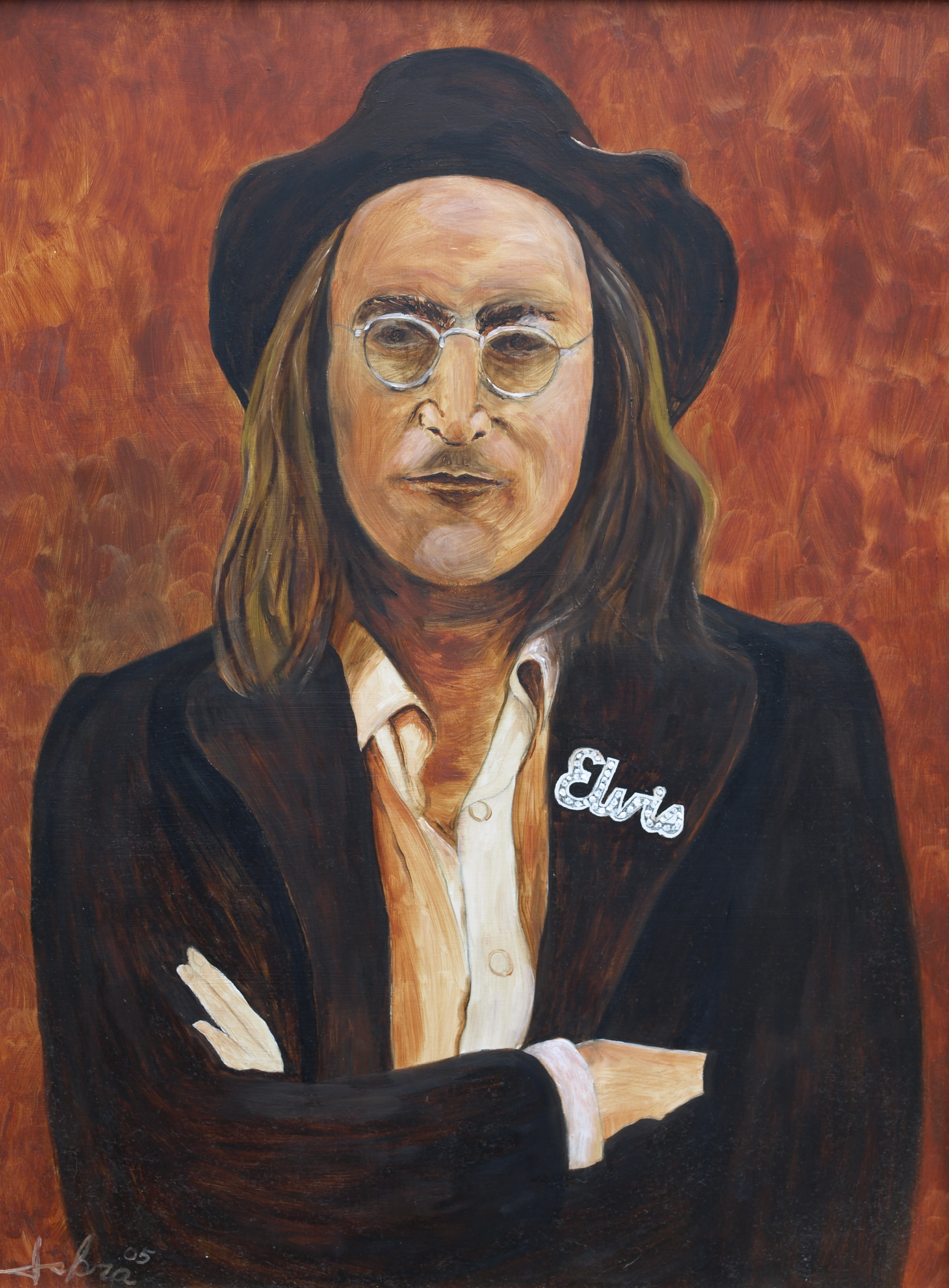 John Lennon Oil Painting By Michael Iskra Absolutearts Com