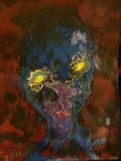 Michael Schaffer: 'Tim Alien', 2019 Mixed Media, Abstract Figurative. Artist Description: Another work from my Head Shots Series.Done on black mixed media paper.Perhaps Tim will be phoning home soon. ...