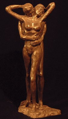 Michael Sharpe: 'The Embrace', 2001 Bronze Sculpture, Love. Two nude bodies, a male and female, in a warm affectionate embrace.  The two figures consist of bonded bronze and beautifully detailed. ...