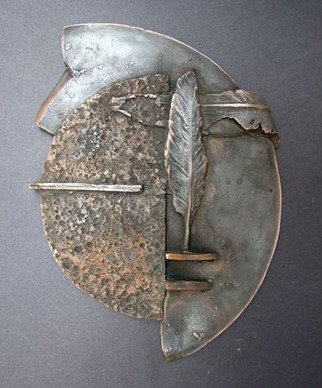 Michal Staszczak: 'Full Moon', 2007 Bronze Sculpture, Abstract Landscape. Artist Description:  Full Moon ...