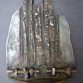 Michal Staszczak: 'Valley', 2007 Bronze Sculpture, Abstract Landscape. Artist Description:  I created this work on the International Symposium of Cast Metal, Plaque and Small Sculpture in Uherske Hradiste ( the Czech Republic) ...