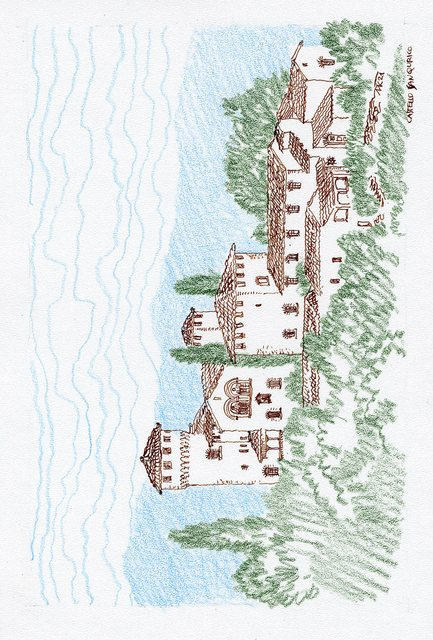 Mikhail Kolomeytsev  'Castello San Quirico', created in 2021, Original Drawing Other.