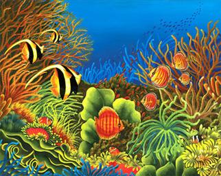 Micheline Hadjis Artwork Splendor of the ocean, 2008 Giclee, Fish