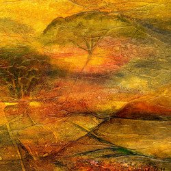 , Spectrummountainsofgold, Abstract Landscape, Request Price