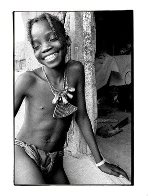 Michael Prochnik: 'Beautiful Smile', 1999 Black and White Photograph, People. Artist Description:  A Himba girl interacting with the camera. Namibia   ...