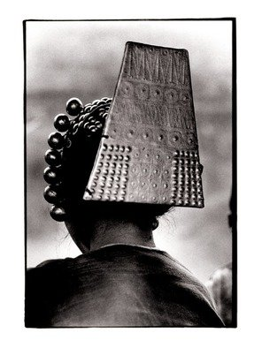 Michael Prochnik: 'Head gear', 1992 Black and White Photograph, People. Artist Description:  Northern Thailand tribal women showing her head gear.  ...