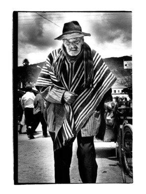 Michael Prochnik: 'Old Man', 2013 Black and White Photograph, People. Artist Description:  An old man walking to the market in Equador ...