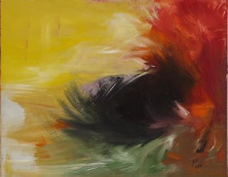 Michael Puya: 'Blowing In The Wind', 2003 Tempera Painting, Abstract.