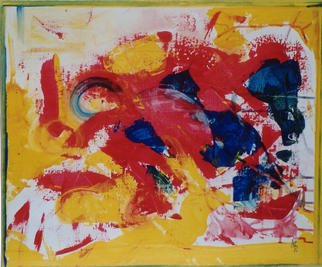 Michael Puya: 'Composition In Red', 2002 Acrylic Painting, Healing.