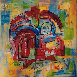 Michael Puya: 'Palace Fragment Of Festos', 2002 Other Painting, Mythology.