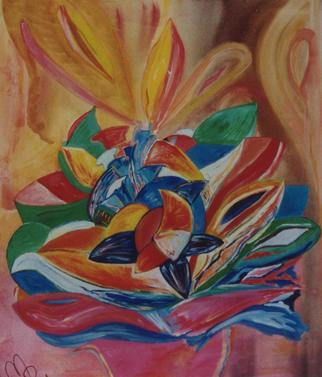 Artist: Michael Puya - Title: St Valentine s Flower - Medium: Acrylic Painting - Year: 2001
