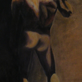 Mya Miyadri Miguel Moya Adriano: 'Nude Man', 2013 Oil Painting, nudes. Artist Description: Nude Man...