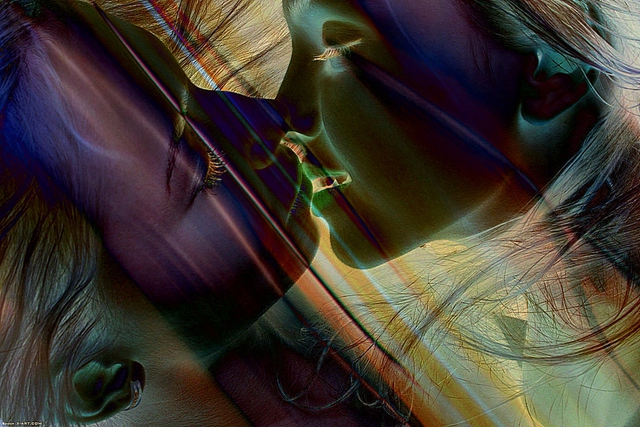 Panaitescu Mihai  'Kiss', created in 2010, Original Digital Art.