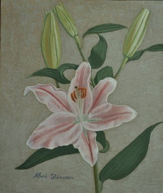 Mihai Stancescu: 'LILY', 2010 Tempera Painting, Still Life. Artist Description:    oil egg tempera on wood panel   ...