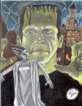 - artwork Frankenstein_and_Bride-1066359052.jpg - 2002, Pastel, Other