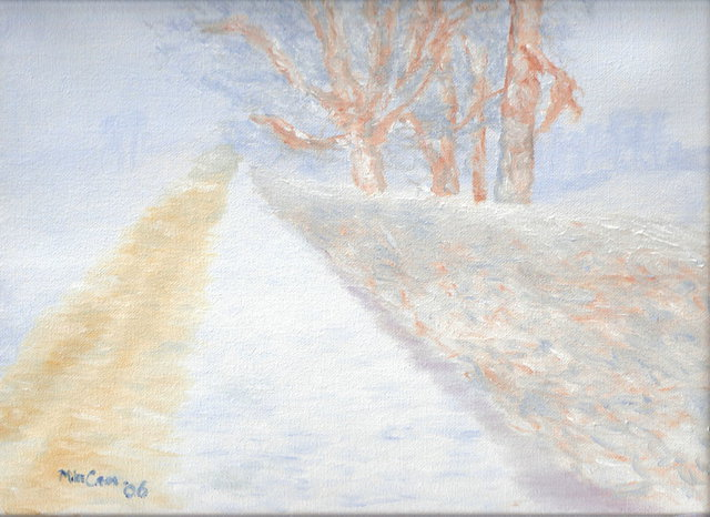 Artist Mike Carr. 'Snow Blown' Artwork Image, Created in 2006, Original Painting Oil. #art #artist