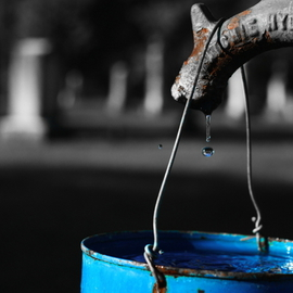 Michael Gatch: 'Liquid Assets', 2008 Color Photograph, Death. Artist Description:  Life is a liquid asset. Water is vitality and death looms over us all. ...