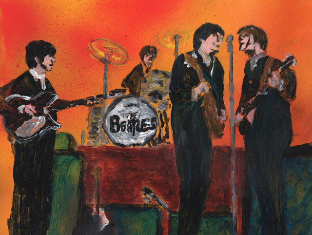 Mike Cicirelli  'Beatles Help', created in 2019, Original Painting Acrylic.