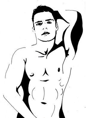 Michael Stead: 'David', 2010 Acrylic Painting, Beauty. Artist Description:     pop art gay    ...