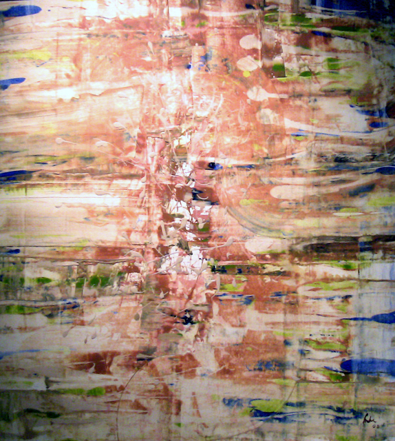 Mike Wong Joon Fong  'Being', created in 2002, Original Painting Encaustic.