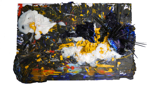 Mike Wong Joon Fong  'More Rises Than The Sun', created in 2013, Original Painting Encaustic.