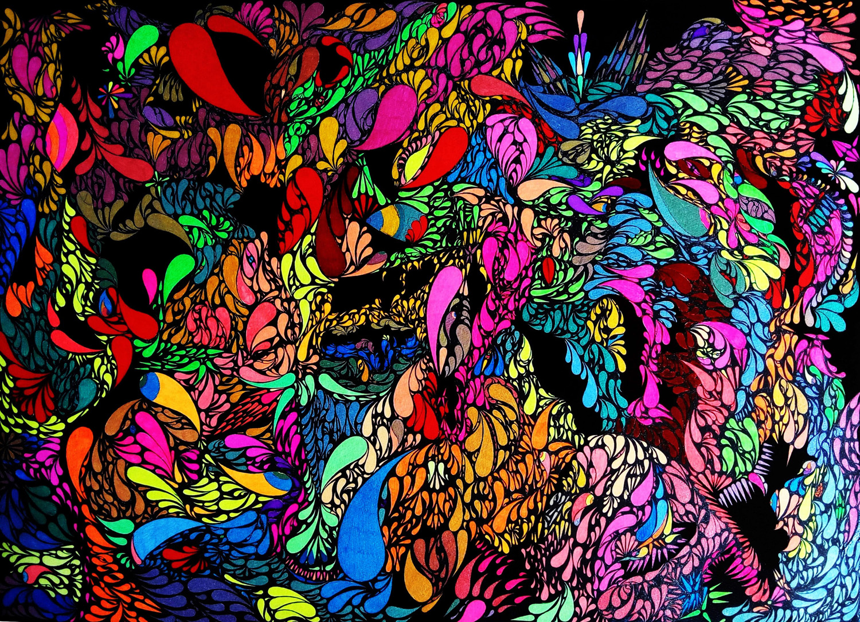 Matthew Morpheus Artwork: Neon Children | Original Drawing ...